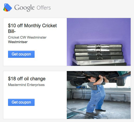 Google Offers ads