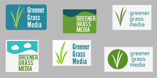Greener Grass Media logo possibilities
