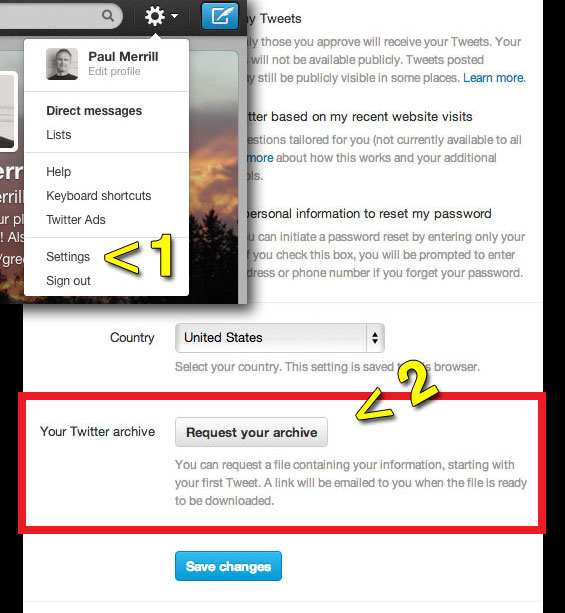 how to archive your twitter