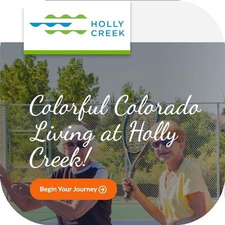 Holly Creek senior living website