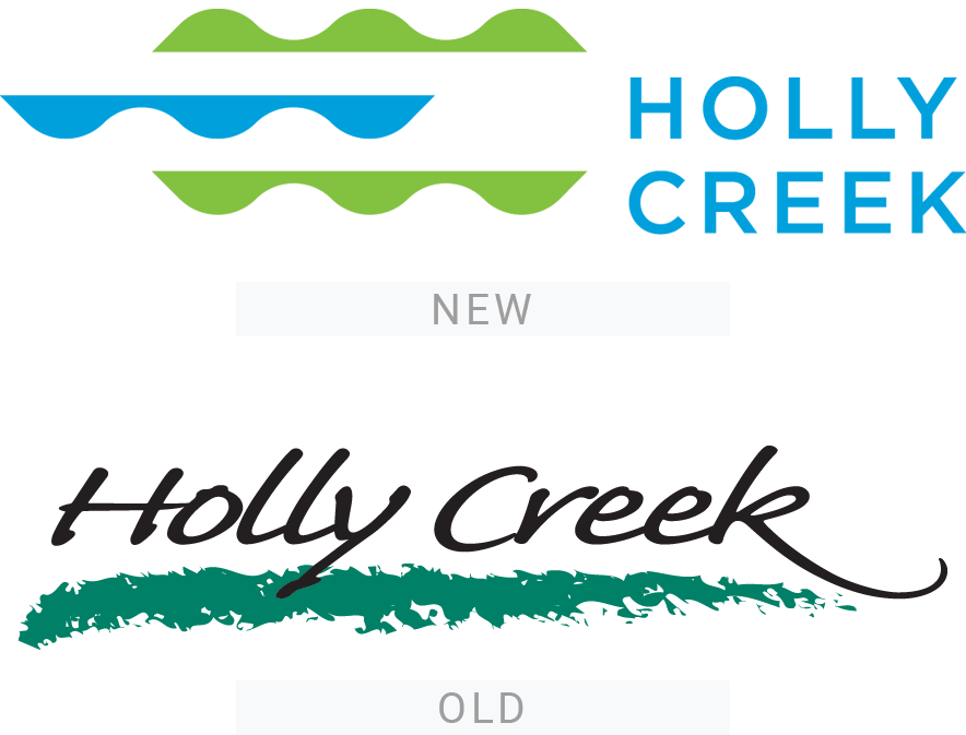 Holly Creek logos - old and new