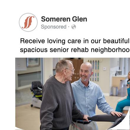 Someren Glen senior living Facebook post screenshot